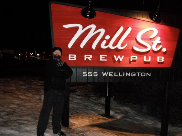 Me, outside of Mill St.'s new location in Ottawa, ON